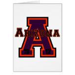 Arizona 'A' Purple Greeting Card