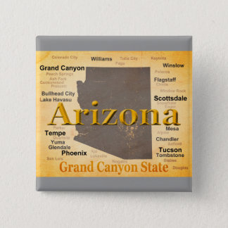 Arizona Aged Map Pinback Button