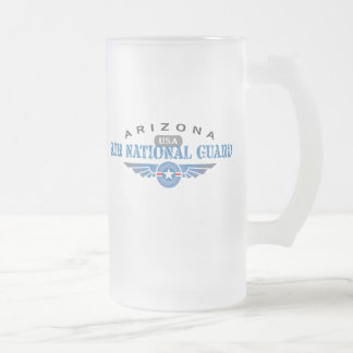 Arizona Air National Guard Frosted Glass Beer Mug