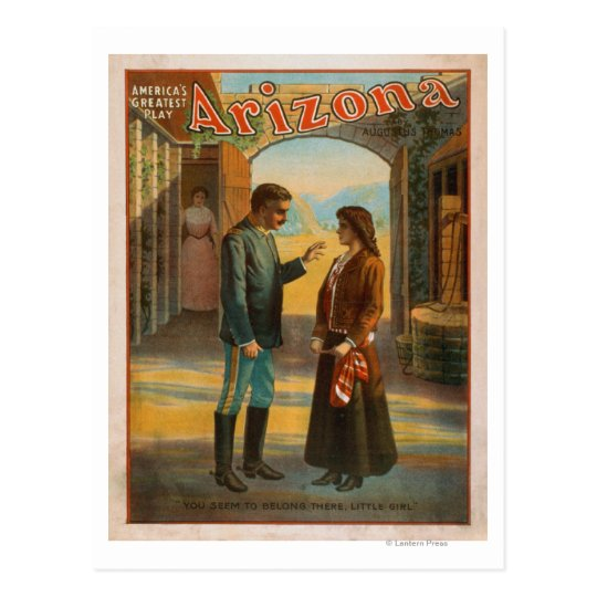 "Arizona ""America's Greatest Play"" Poster #2 Postcard"