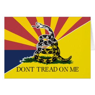 Arizona and Gadsden Flag Card