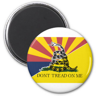 Arizona and Gadsden Flag Magnet