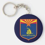 Arizona and Gadsden Flag Shield Key Chains