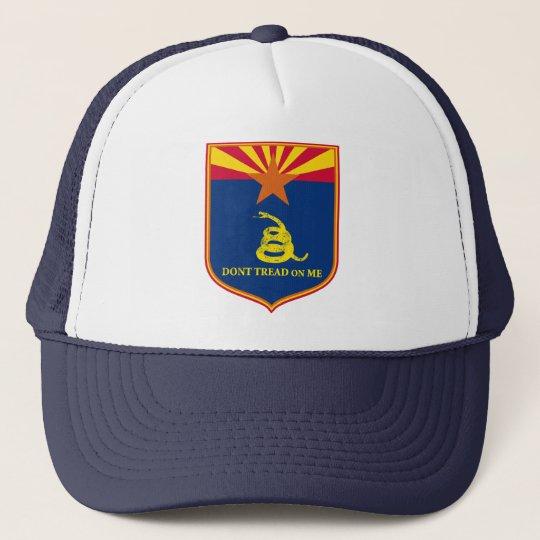 Arizona and Gadsden Flag Shield Trucker Hat
