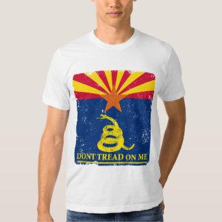 Arizona and Gadsden Flag Tee Shirt