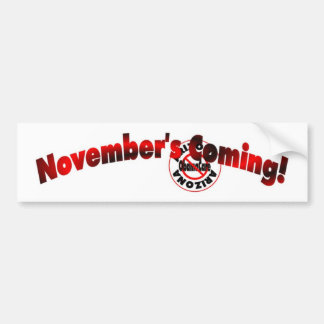 Arizona Anti ObamaCare – November's Coming! Bumper Sticker