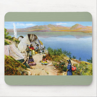 Arizona Apache Indians Camp along the Water Mouse Pad