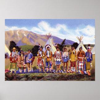 Arizona Apache Indians Camp Poster