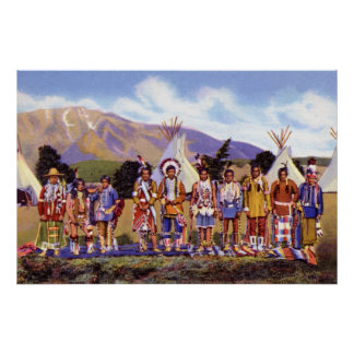 Arizona Apache Indians Camp Print