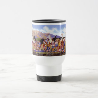 Arizona Apache Indians Camp Travel Mug