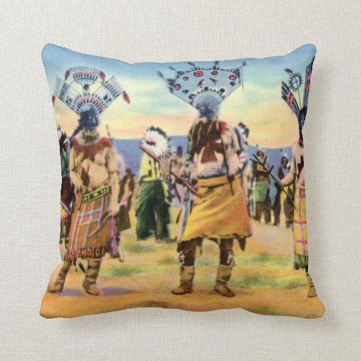 Arizona Apache Indians Devil Dance Pillow