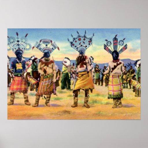 Arizona Apache Indians Devil Dance Poster