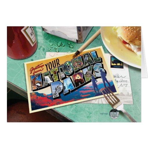 Arizona - arte del libro tarjeta de felicitación