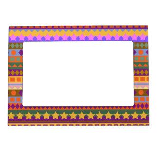 Arizona Aztec Desert Colors Southwest ZigZag Photo Frame Magnets