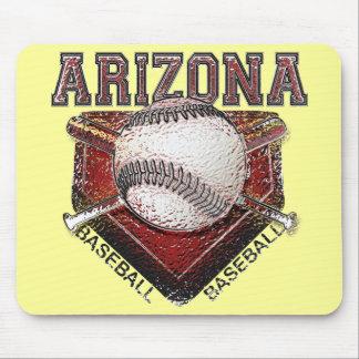 Arizona Baseball Grunge Style Design Mouse Pad