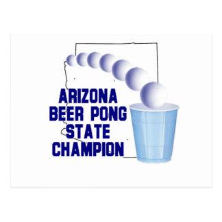Arizona Beer Pon Champion Postcard