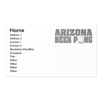 Arizona Beer Pong King Double-Sided Standard Business Cards (Pack Of 100)