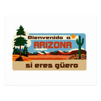 Arizona Bienvenido a Arizona si eres güero Postcards