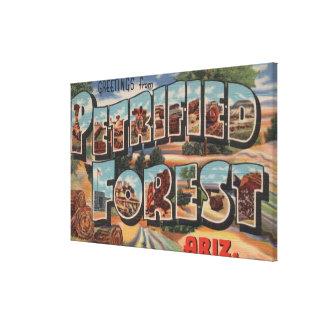 Arizona - bosque aterrorizado - letra grande impresiones en lona estiradas