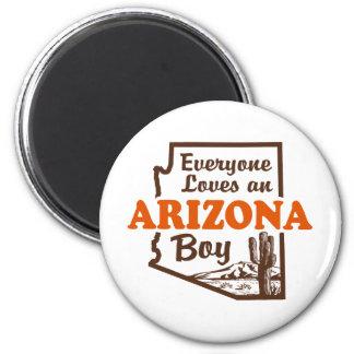 Arizona Boy 2 Inch Round Magnet