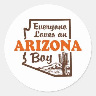 Arizona Boy Classic Round Sticker