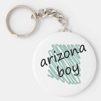 Arizona Boy on Child's Arizona Map Drawing Keychain