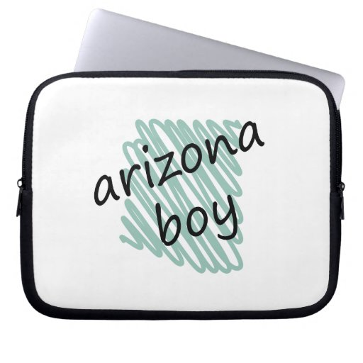 Arizona Boy on Child's Arizona Map Drawing Laptop Sleeves