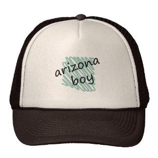 Arizona Boy on s Arizona Map Drawing Trucker Hat