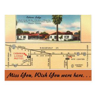 Arizona, Cabana Lodge Postcard