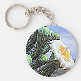 Arizona cactus basic round button keychain
