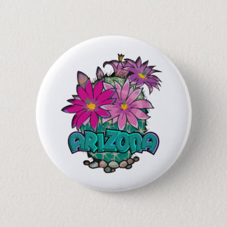 Arizona Cactus Blooms Button