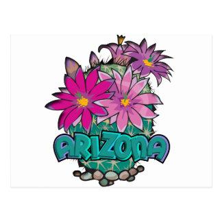 Arizona Cactus Blooms Postcard