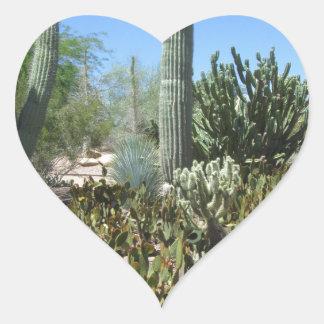 Arizona Cactus Garden Heart Sticker