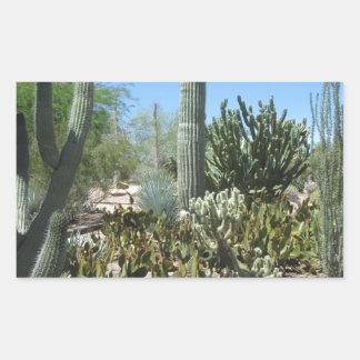 Arizona Cactus Garden Rectangular Sticker