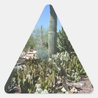 Arizona Cactus Garden Triangle Sticker