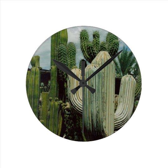 Arizona Cactus Round Clock