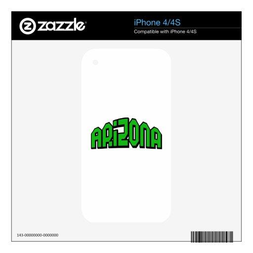 Arizona Calcomanía Para El iPhone 4