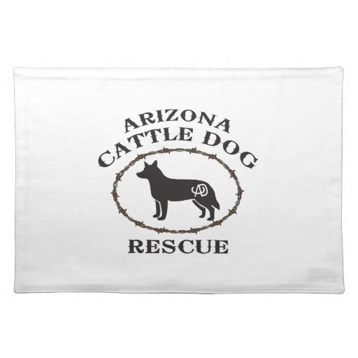 Arizona Cattle Dog Rescue Cloth Placemat