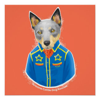 """Arizona Cattle Dog Rescue Poster, 20"""" x 20"""" Poster"""