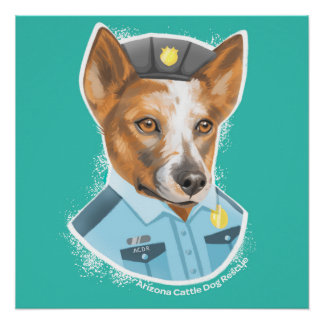 "Arizona Cattle Dog Rescue Poster, 20"" x 20"" Poster"
