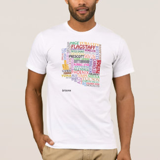 Arizona City Map T-Shirt