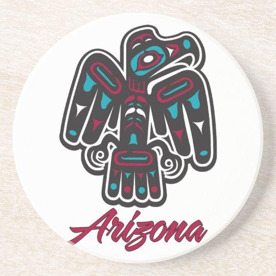 Arizona Clan Native American Thunderbird Coaster