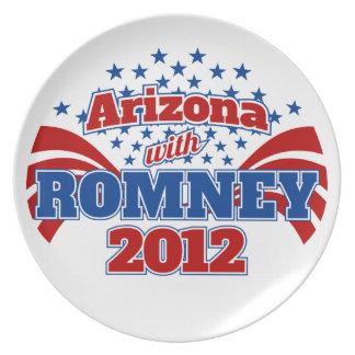 Arizona con Romney 2012 Plato