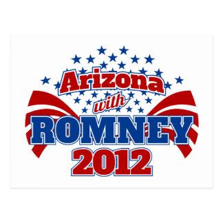 Arizona con Romney 2012 Postal