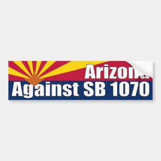 Arizona contra la pegatina para el parachoques 107 pegatina para auto