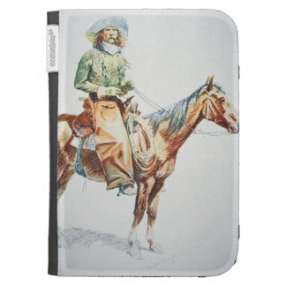 Arizona Cowboy, 1901 (crayon on paper) Kindle 3 Cases