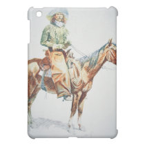 Arizona Cowboy, 1901 (crayon on paper) Cover For The iPad Mini