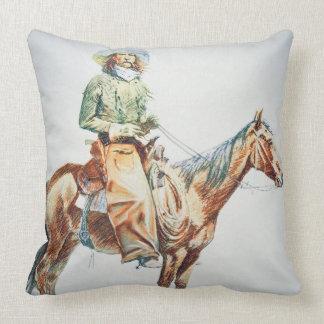 Arizona Cowboy, 1901 (creyón en el papel) Almohada