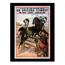 Arizona Cowboy in Big Tent Theater Postcard