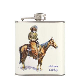 Arizona Cowboy Remington Fine Art Flask